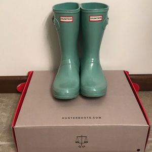 Hunter Boots Short Light Succulent Aqua 9